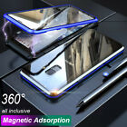 For Samsung S10 Note 10 Pro Magnetic 360° Full Protective Phone Case Glass Cover