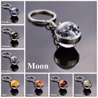 Kyпить Solar Planet Keyring Galaxy Nebula Space Moon Double Side Glass Ball Keychain на еВаy.соm