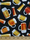 Beer Cups Black Alcohol Drink Timeless Treasures #3590