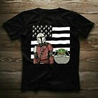 Baby Yoda Boba Feet Star Wars Movie American Flag Funny Gift T-shirt Christmas $15.99 USD on eBay