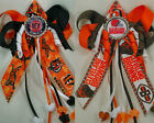 Football Cincinnati Bengals or Cleveland Browns Hair Bow with Beads $4.99 USD on eBay