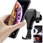 Gravity Car Air Vent Phone Mount Cradle Holder Stand for iPhone 11 Galaxy LG GPS