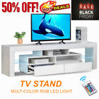 Kyпить High Gloss 63'' TV Stand Unit Cabinet Console Table RC with Colorful LED Lights на еВаy.соm