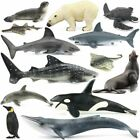 Ocean Sealife Animals Fish Figure Toy Set Kids Learning Bule Whale Shark Tiger