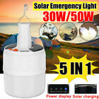 Used, 30/50W Solar Wall Light Lantern Bulb Hiking Outdoor Camping Tent Emergency Lamp for sale  Shipping to South Africa