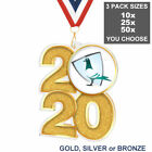 PIGEON RACING 2020 ACRYLIC 70mm MEDAL & RIBBON, PACK OF 10 (25 or 50), TROPHY