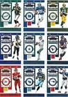 2019 PANINI CONTENDERS FOOTBALL SINGLES - ALL BASE CARDS # 1-100 - YOU PICK $1.25 USD on eBay