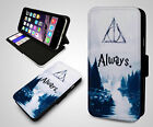 Harry Potter After All This Time Always Quote Leather Wallet Phone Case Cover