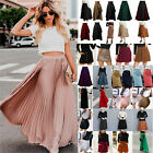 Women Short/Long Skirt Pleated Bodycon Party Formal Casual Mini Skirt Maxi Dress