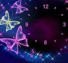 Wall Clock Diamond Painting Butterfly Design Embroidery House Decoration Display