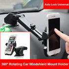 Universal Car 360 Rotate Windshield Dash Mount Holder Stand For iPhone 8 Plus 7