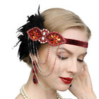 1920s Headband Feather Vintage Bridal 20s Gatsby Flapper Headpiece Gangster