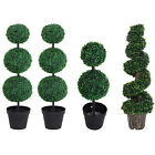 Artificial Boxwood Topiary Tree Home Party Decorative Plant W/ Nursery Pot