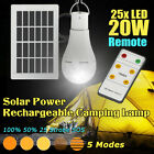20W Solar Panel Power LED Bulb Light Portable Outdoor Camping Tent Energy  R, used for sale  Shipping to South Africa
