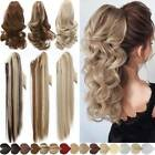 Thick Real 100% Claw Ponytail Clip In On Pony Tail Hair Extension Ombre As Human