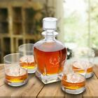 Personalized Antique 24 oz. Whiskey Decanter - Set of 4 Lowball Glasses