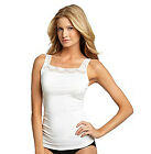 Womens Lace Trim Cami Top by Relativity adjustable straps large sizes