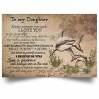 Shark Daughter Poster From Dad - Father And Daughter Motivation Quote Art Print