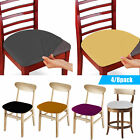 set of 4 8pcs stretch removable washable dining room chair seat cover slipcover