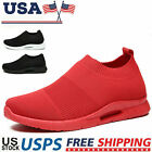 Women's Sneakers Casual Breathable Sports Slip-on Tennis Running Shoes Walking