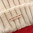 Knitting Tags Personalized Real Leather Crochet Custom Clothing Label Accessory