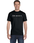 FRIENDS 90'S TV SHOW MEN'S BLACK T-SHIRT TEE 100% COTTON CLOTHING FROM US image