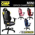 HA/821 OMP MINI RACE SEAT OFFICE CHAIR ON WHEELED BASE COMPACT SIZE in 4 COLOURS