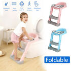 165 lbs Kids Potty Trainer Child Toddler Toilet Chair Seat w/ Step Stool  image