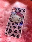 Handcrafted Rhinestone fully crystal 3D hello kitty for IPhone Samsung Huawei