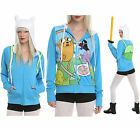 Adventure Time with Jake and Finn Costume Hoodie Ears Cosplay REVERSIBLE S NWT