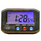 Digital Snooze Electronic Alarm Clock LED Backlight Light Control Night Light