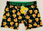 Crazy Boxer Ducky Duck St. Patrick's Day Shamrock Black Boxer Briefs Men's NWT