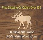 Wooden Moose Shape, Laser Cut Wood, Sizes Up To 5 Feet, A583