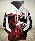 Kansas City Chiefs Skull 3D Hoodie Full Print Double Sides S-3XL $43.99 USD on eBay