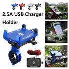 Universal Motorcycle Phone Handlebar Mount Holder 2.5A USB Fast Charger +  *