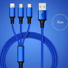 USB Charging Cable Universal 3 in 1 Phone Multi Function Charger Cord Heavy Duty