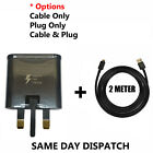 Genuine Samsung Fast Charger Plug& 2M Micro USB Data Cable For Galaxy Phones Lot