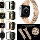 Women Bling Bracelet Wrist Band Watch Case Cover for Apple iWatch 38/42/40/44mm image