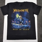 New Megadeth - Rust In Peace T-shirt Band Concert Cotton Reprint S-4XL KN205 image