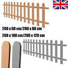 Garden Picket Fence Outdoor Fence Panel WPC Barrier Yard Grey/Brown New