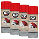 4x K2 BREMSSATTELLACK SPRAY 400ML BRAKE CALIPER PAINT ROT günstig