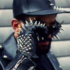 ByTheR Black Men Metal Stud Custom Rider Biker Leather Gloves Korea Fashion NEW