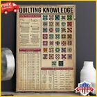 FREESHIP Quilting Knowledge Poster Quilting Knowledge Knowledge Poster No Frame