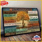 FREESHIP Love Tree To My Granddaughter Never Forget That I Love You Grandma