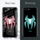 Marvel & DC Luminous Tempered Glass Case For iphone X 10 XS MAX XR 6 6S 7 8 plus