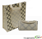 KR Reusable Non-Woven Striped Foldable Purse Wallet Pouch Grocery Shopping Bags