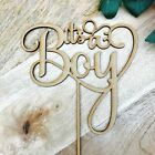 CLEARANCE! 1 ONLY Timber It's a Boy Cake Topper Baby Shower Cake Topper Cake Dec