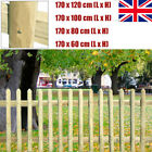 Garden Picket Fence Panel Lawn Edging Panel Fsc Pinewood Diy Yard Fencing Home