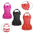 US Kids Girls One Piece Swimwear Swimsuits Bathing Beachwear Polka Dots Dress