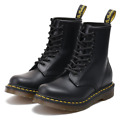 Black Hard Leather Martens 1460 Classic Real Airwair 11821006 Ankle Boots Unisex